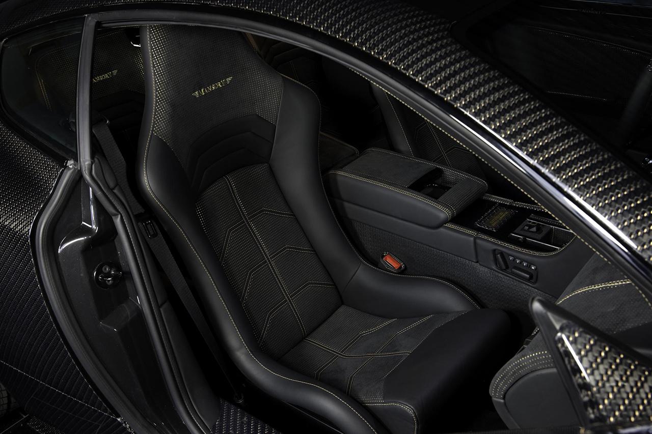 mansory aston martin db9 cyrus wide body carbon fiber interior seat