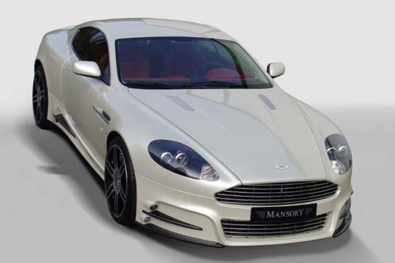mansory aston martin db9 front white front bumper side skirt
