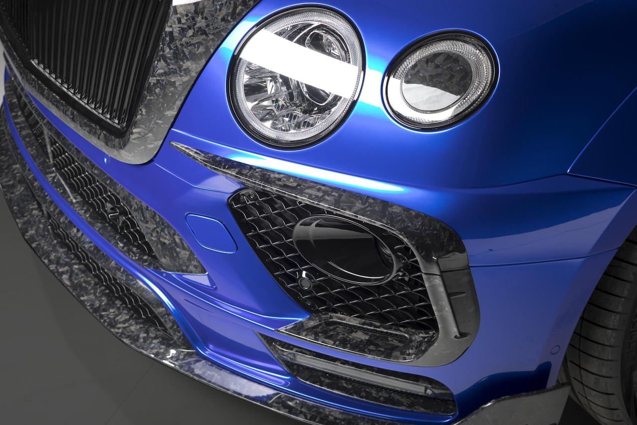 mansory bentley bentayga wide body bleurion carbon fiber front bumper front grill front splitter 2016 2017 2018