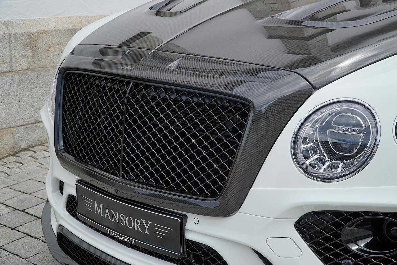 mansory bentley bentayga wide body carbon fiber front grill hood 2016 2017 2018