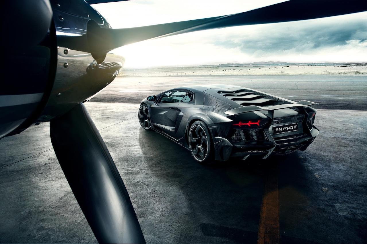 mansory aventador carbonado carbon fiber rear bumper exhaust competition wing spoiler fully forged wheel rim propeller