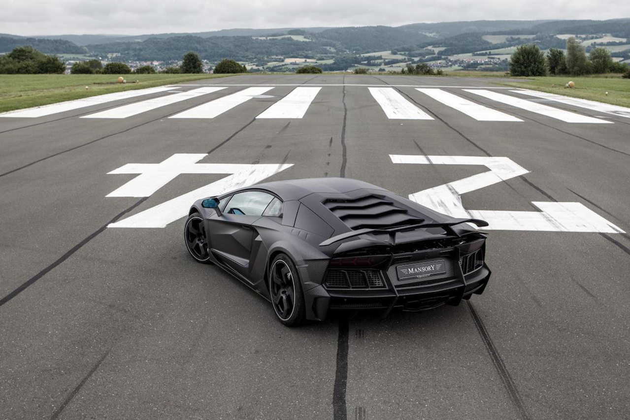 mansory aventador carbonado carbon fiber rear bumper exhaust competition wing spoiler fully forged wheel rim