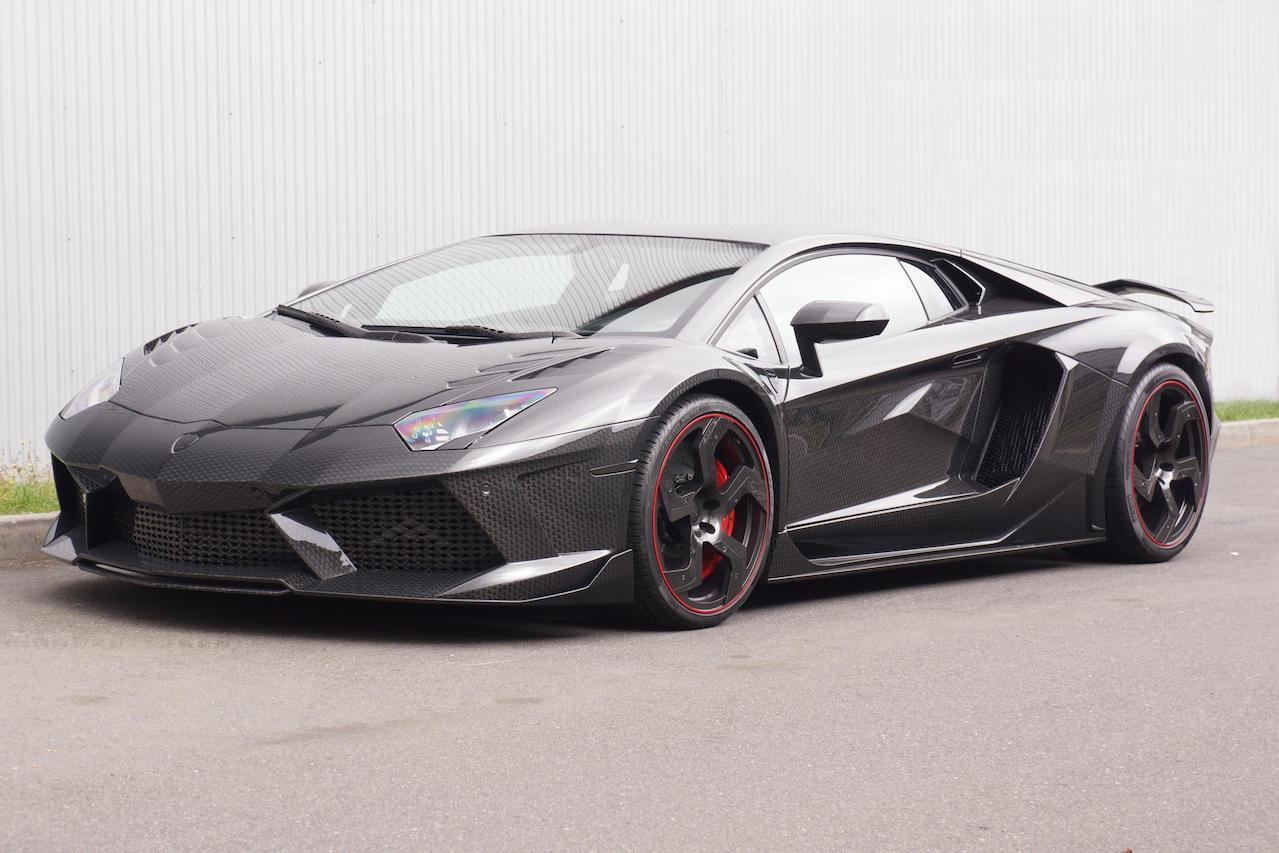 mansory aventador carbonado carbon fiber wide body front angle fully forged wheel rim