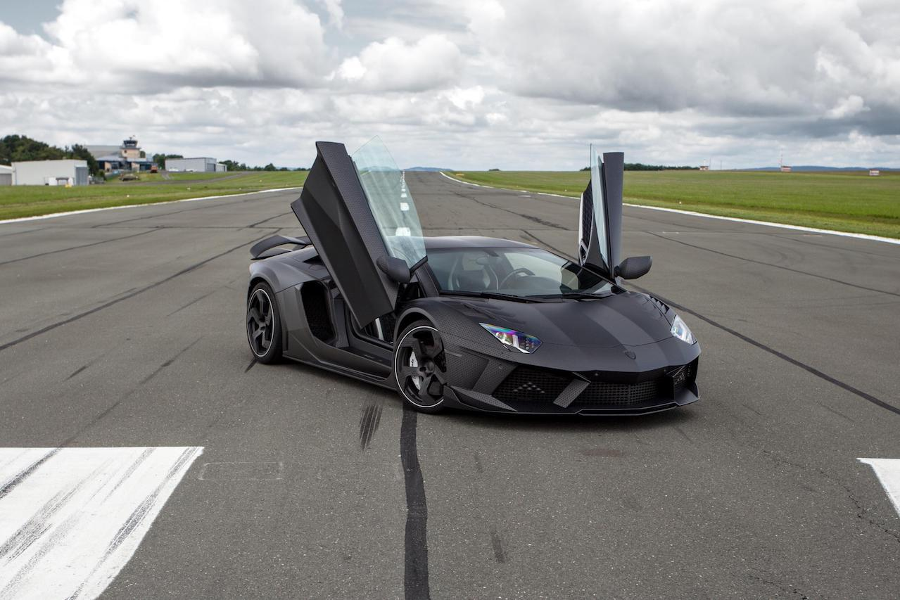 mansory aventador carbonado carbon fiber wide body fully forged wheel rim doors open