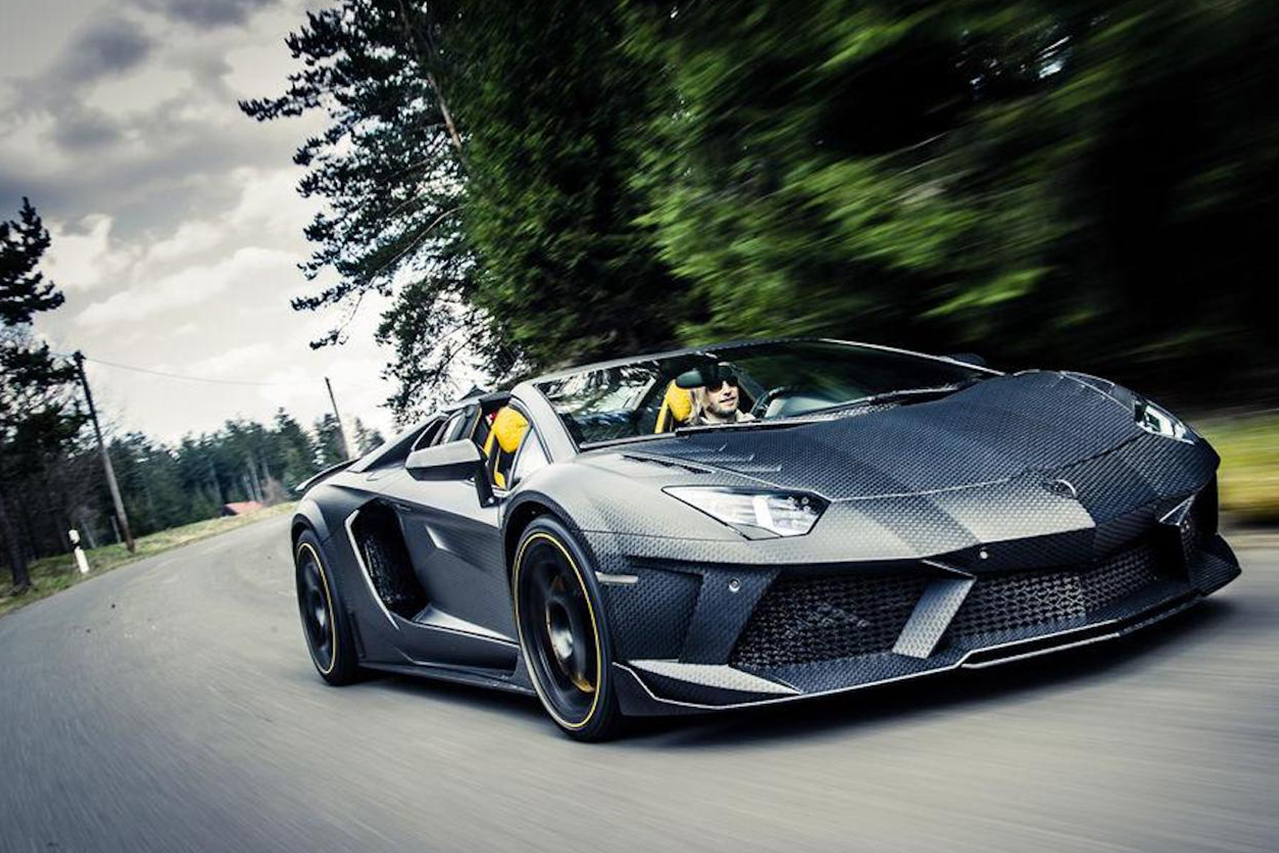mansory aventador roadster carbonado apertos carbon fiber wide body front bumper fender side skirt fully forged wheel rim