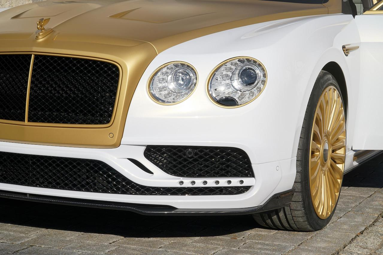 mansory bentley flying spur new front bumper led drl grill multispoke wheel rim