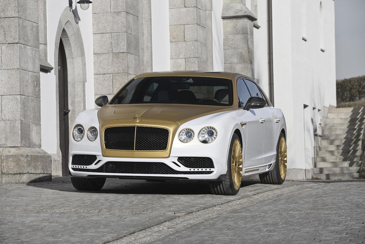 mansory bentley flying spur new front bumper led drl side skirt set grill multispoke wheel rim