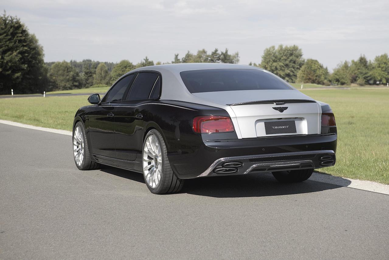 mansory bentley flying spur rear bumper carbon fiber rear diffuser trunk spoiler wing m8 wheel rim