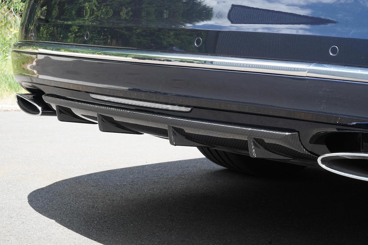 mansory bentley mulsanne rear bumper carbon fiber diffuser 2017 2018