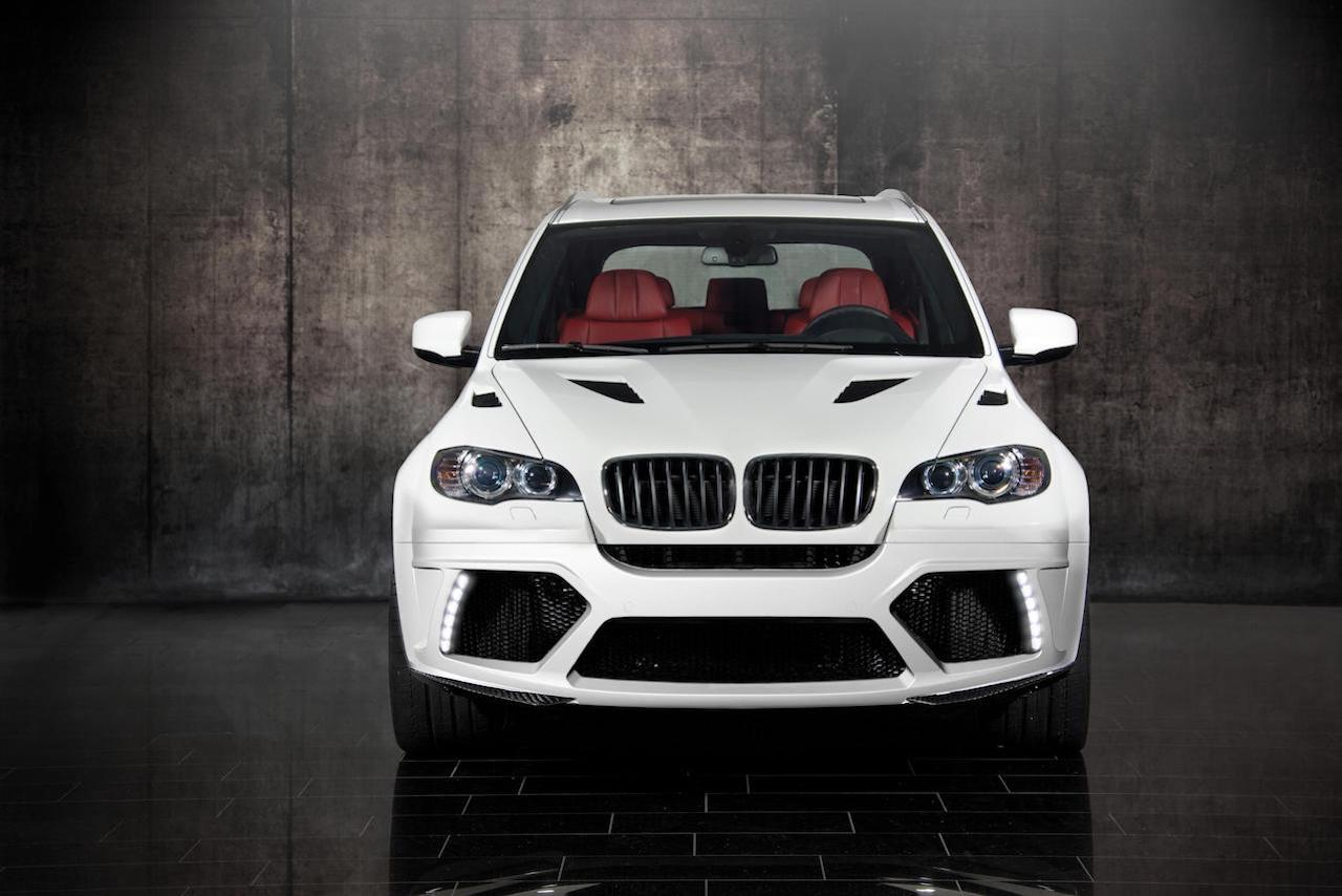 mansory bmw x5 white wide body front bumper led drl carbon fiber hood 2009 2010 2011 2012 2013