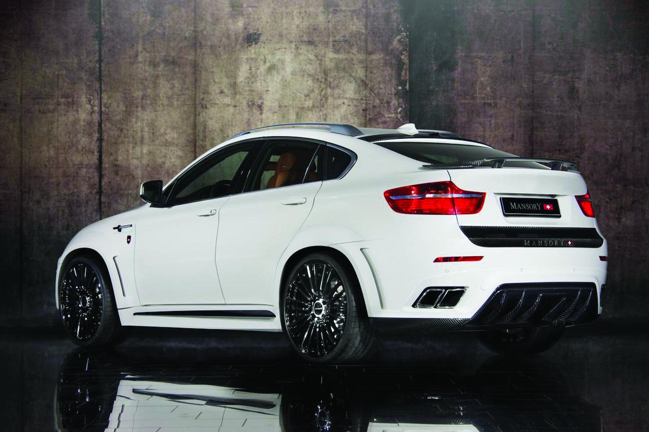 mansory bmw x6 white wide body rear bumper carbon fiber diffuser exhaust trunk wing m10 wheel rim 2008 2009 2010 2011 2012 2013 2014