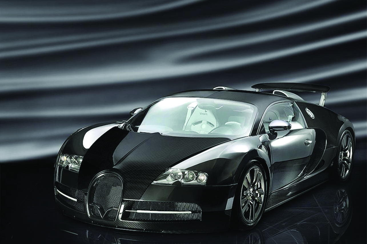 mansory bugatti veyron front angle carbon fiber wide body