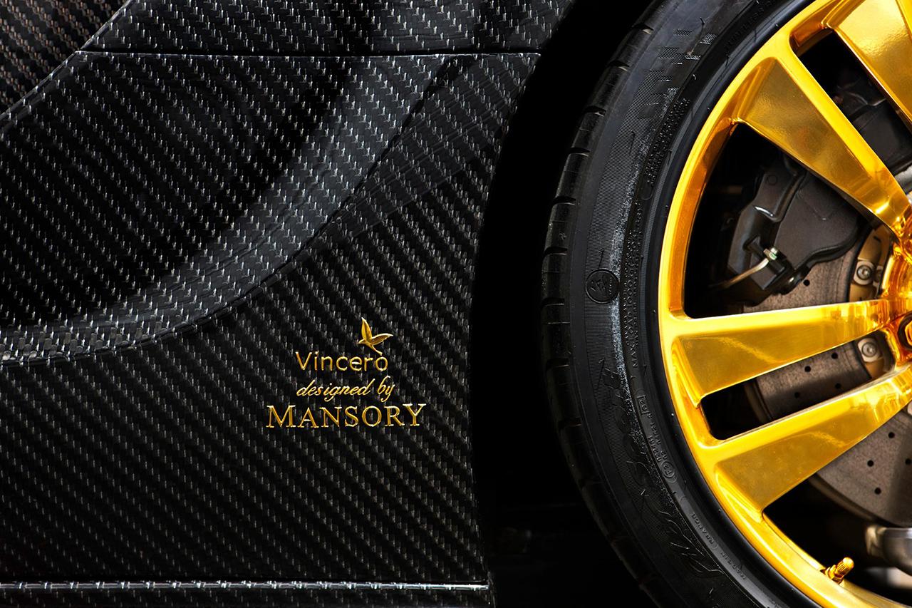 mansory bugatti veyron linea d'oro carbon fiber logo