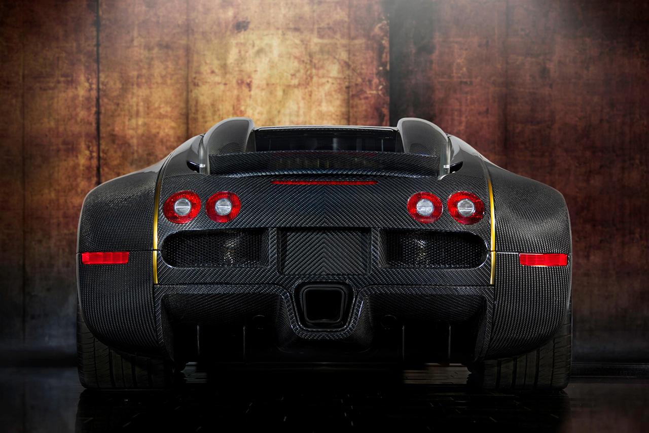 mansory bugatti veyron linea d'oro carbon fiber rear