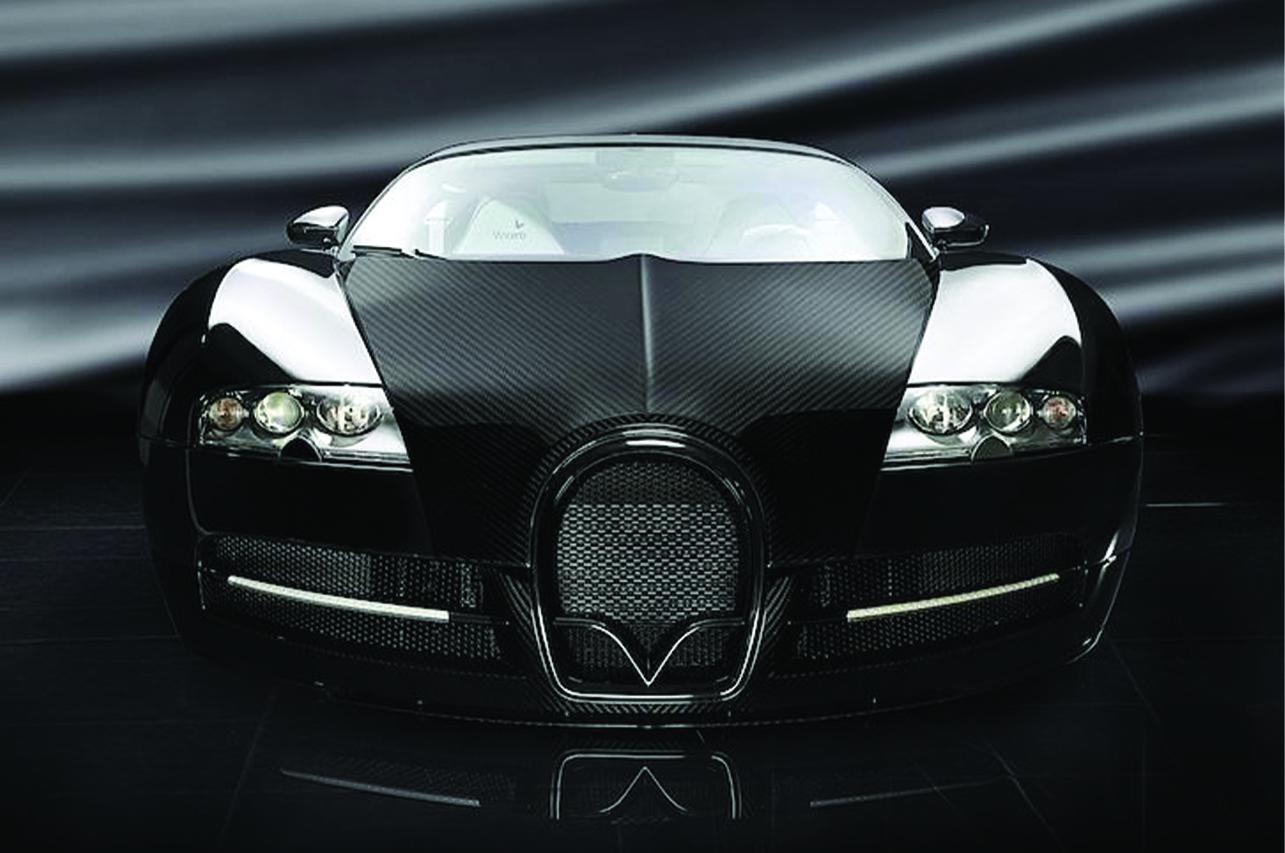 mansory bugatti veyron linea vincero front end carbon fiber hood