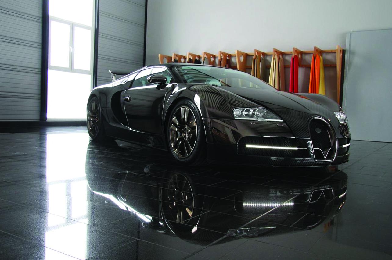 mansory bugatti veyron linea vincero front end carbon fiber led