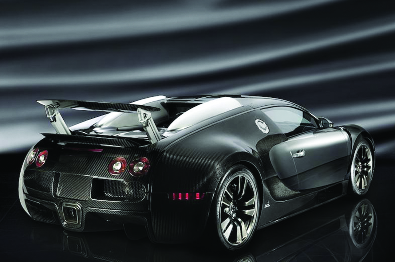 mansory bugatti veyron linea vincero rear angle wing up carbon fiber wide body