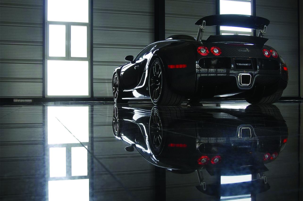 mansory bugatti veyron linea vincero rear bumper carbon fiber wing up