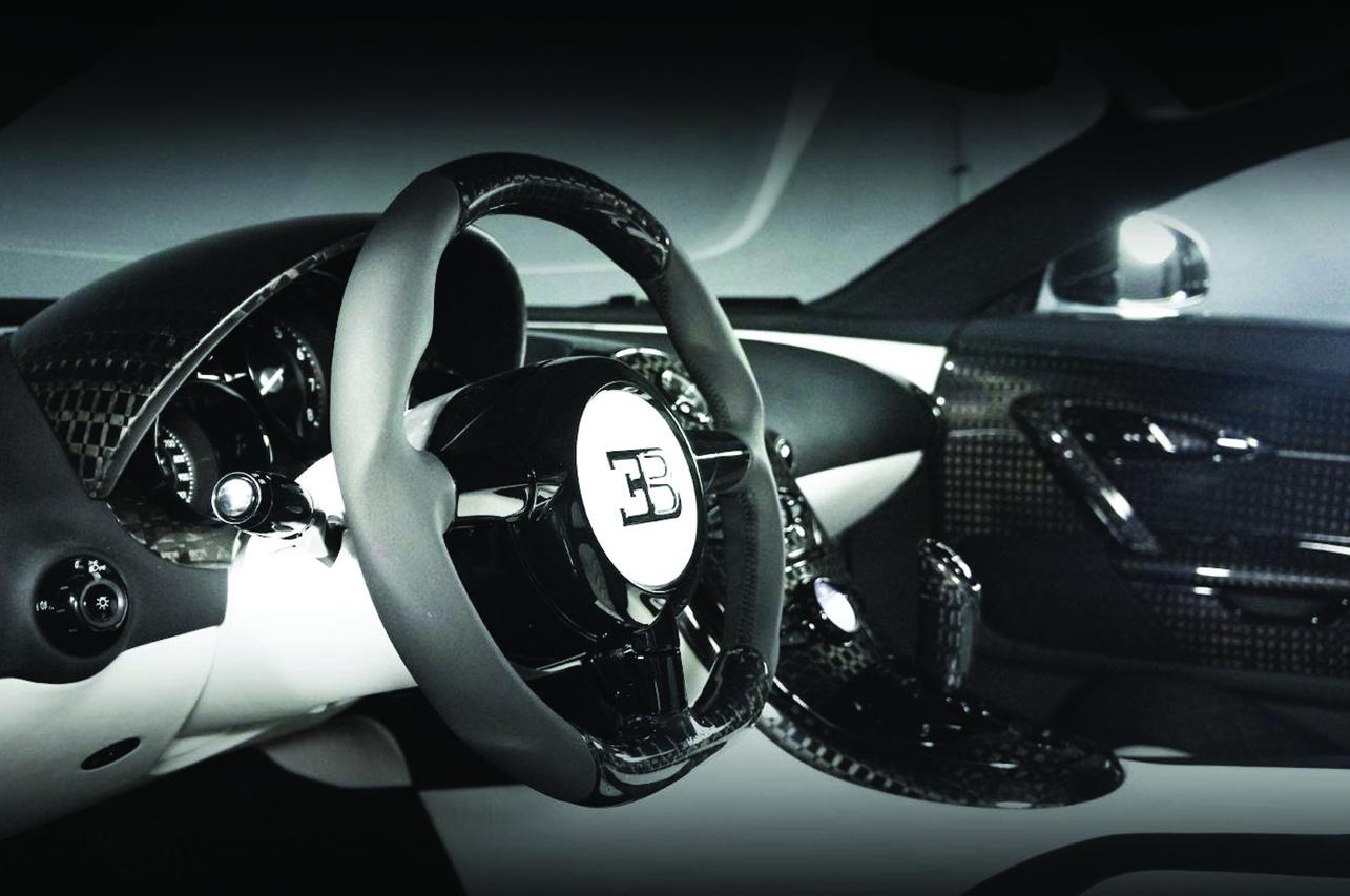 mansory bugatti veyron linea vivere interior carbon steering wheel