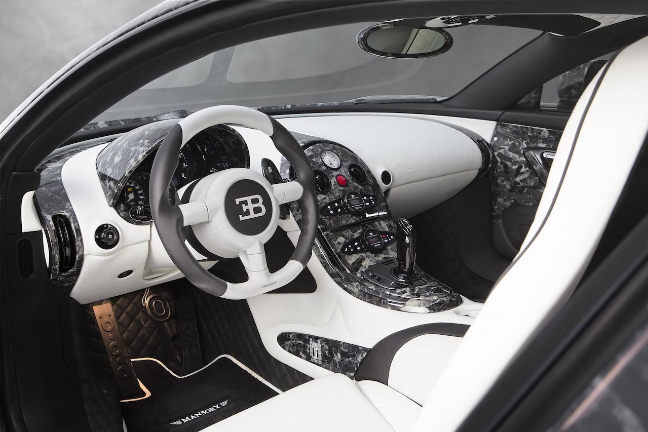 mansory bugatti veyron vivere diamond edition custom interior