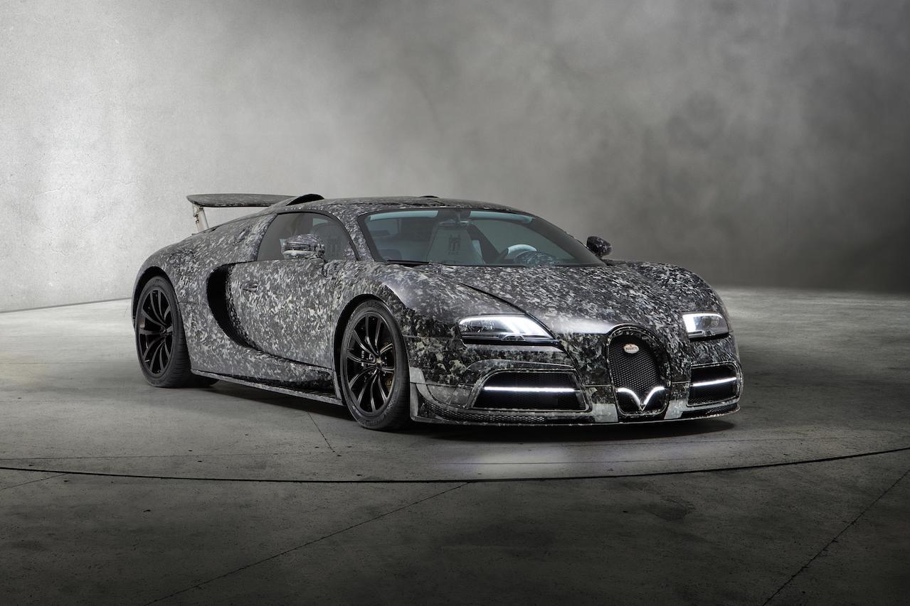 mansory bugatti veyron vivere diamond edition front end forged carbon wide body