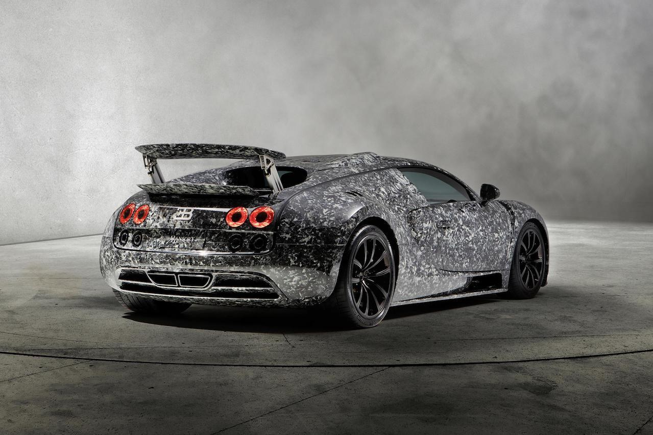 mansory bugatti veyron vivere diamond edition rear end wing up carbon fiber wide body forged carbon