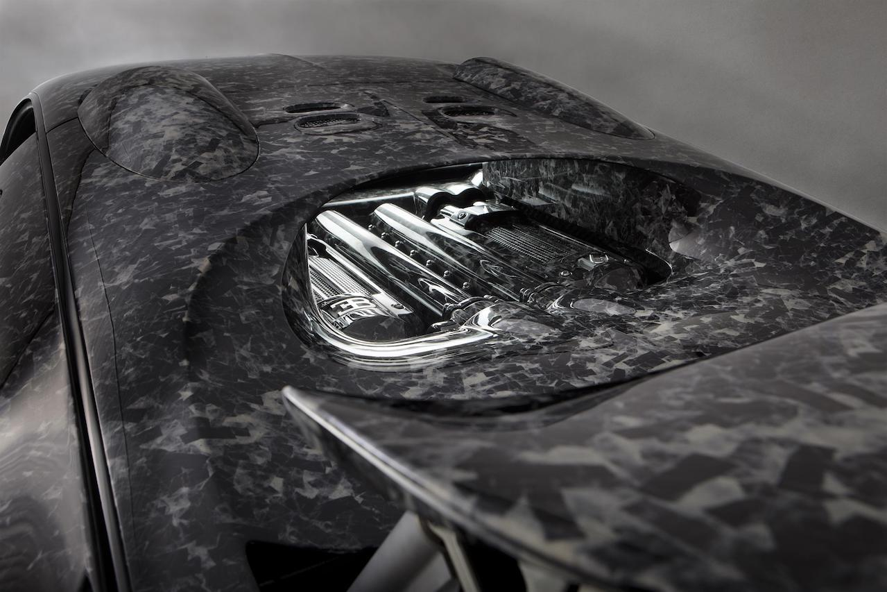 mansory bugatti veyron vivere diamond edition rear engine cover forged carbon