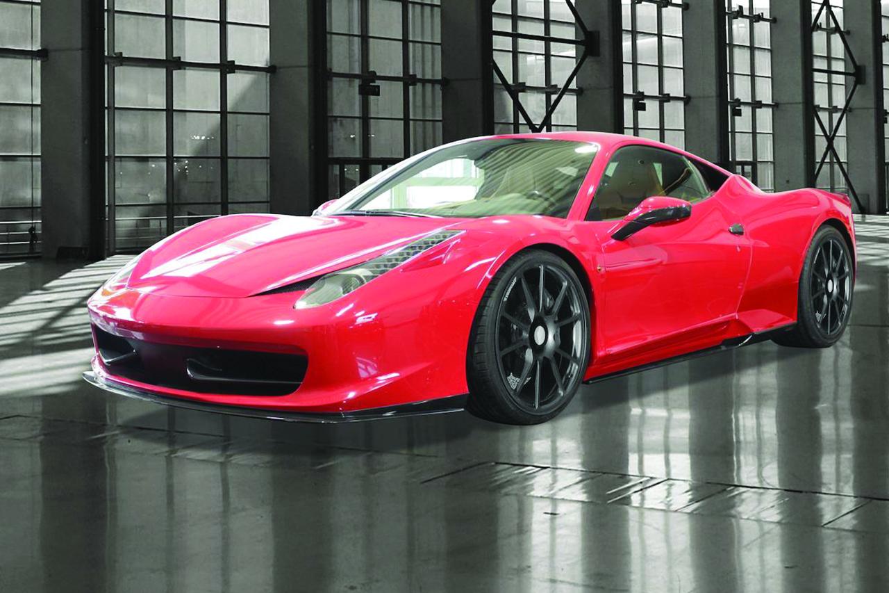 mansory ferrari 458 italia carbon fiber front lip spoiler fully forged wheel