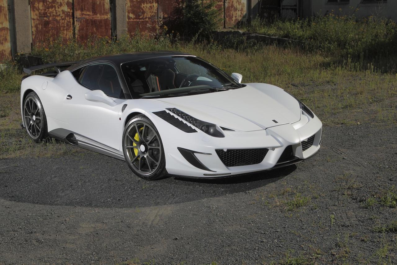 mansory ferrari 458 siracusa white carbon fiber body kit front bumper hood fender side skirt fully forged wheel rim