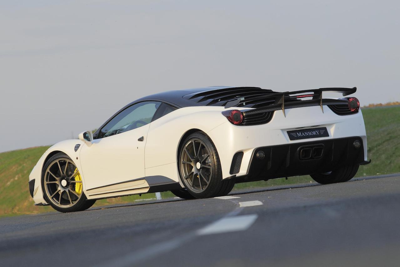 mansory ferrari 458 siracusa white carbon fiber body kit rear bumper diffuser side skirt trunk wing spoiler roof panel fully forged wheel rim