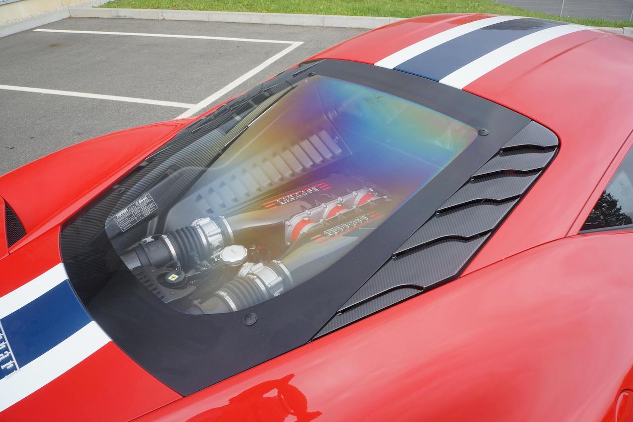 mansory ferrari 458 speciale carbon fiber engine bonnet air vent