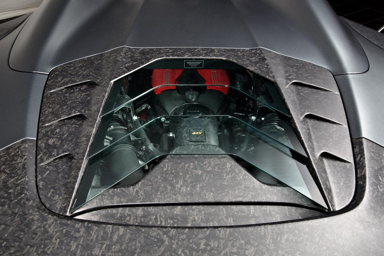 mansory ferrari 488 siracusa 4xx spider body kit carbon fiber engine cover