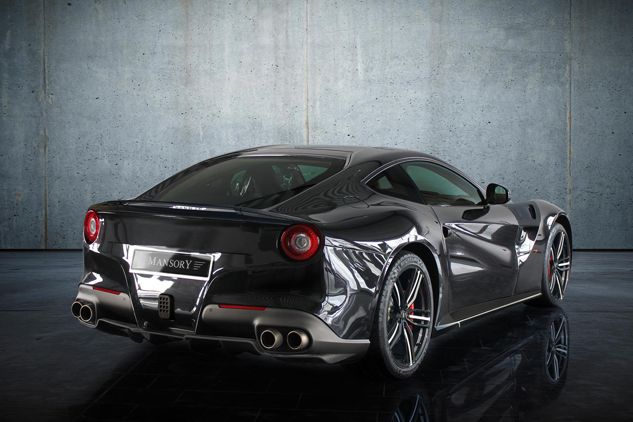 mansory ferrari f12 body kit carbon fiber rear diffuser trunk spoiler wing side skirts