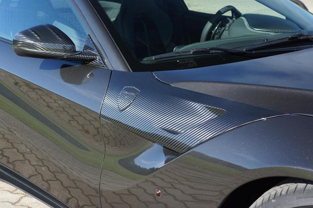 mansory ferrari f12 carbon fiber fender panel mirror housing