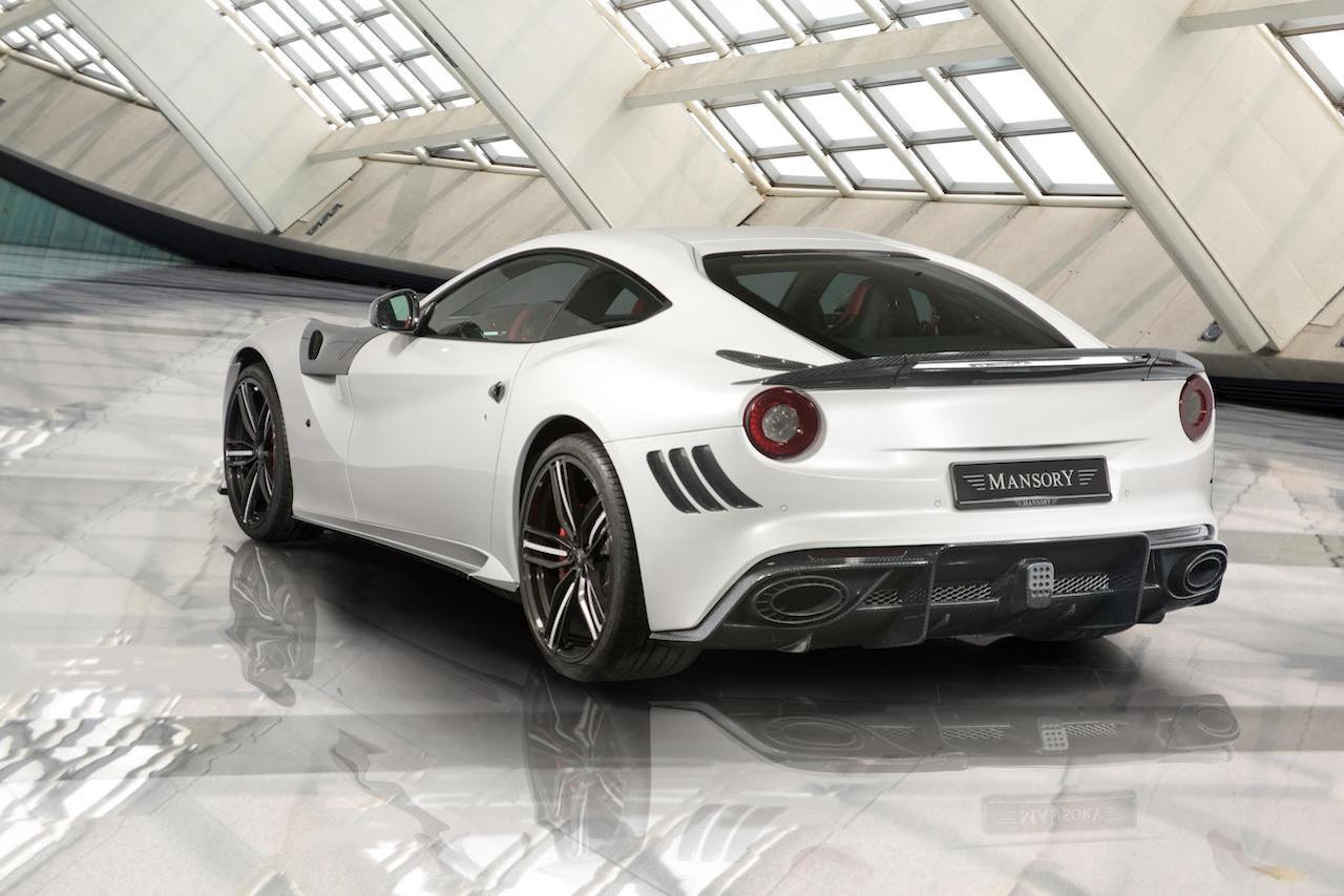 mansory ferrari f12 stallone carbon fiber rear diffuser trunk wing sie skirt fender panel exhaust system