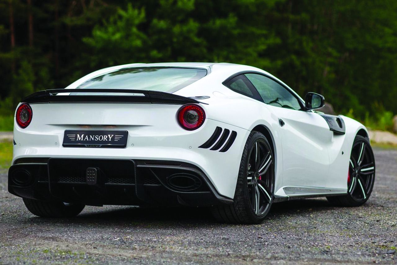 mansory ferrari f12 stallone rear bumper carbon fiber rear diffuser trunk wing side skirt