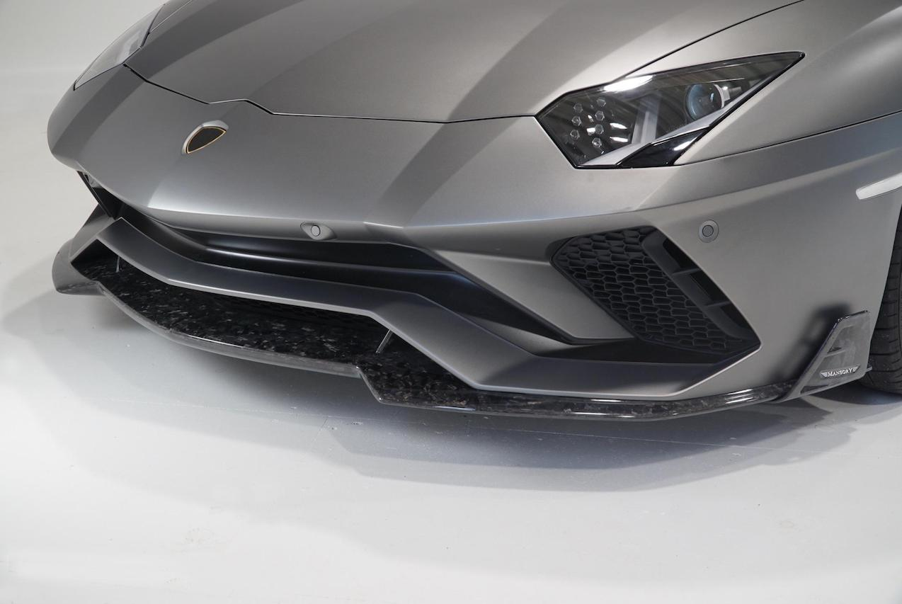 mansory lamborghini aventador s carbon fiber front bumper lip