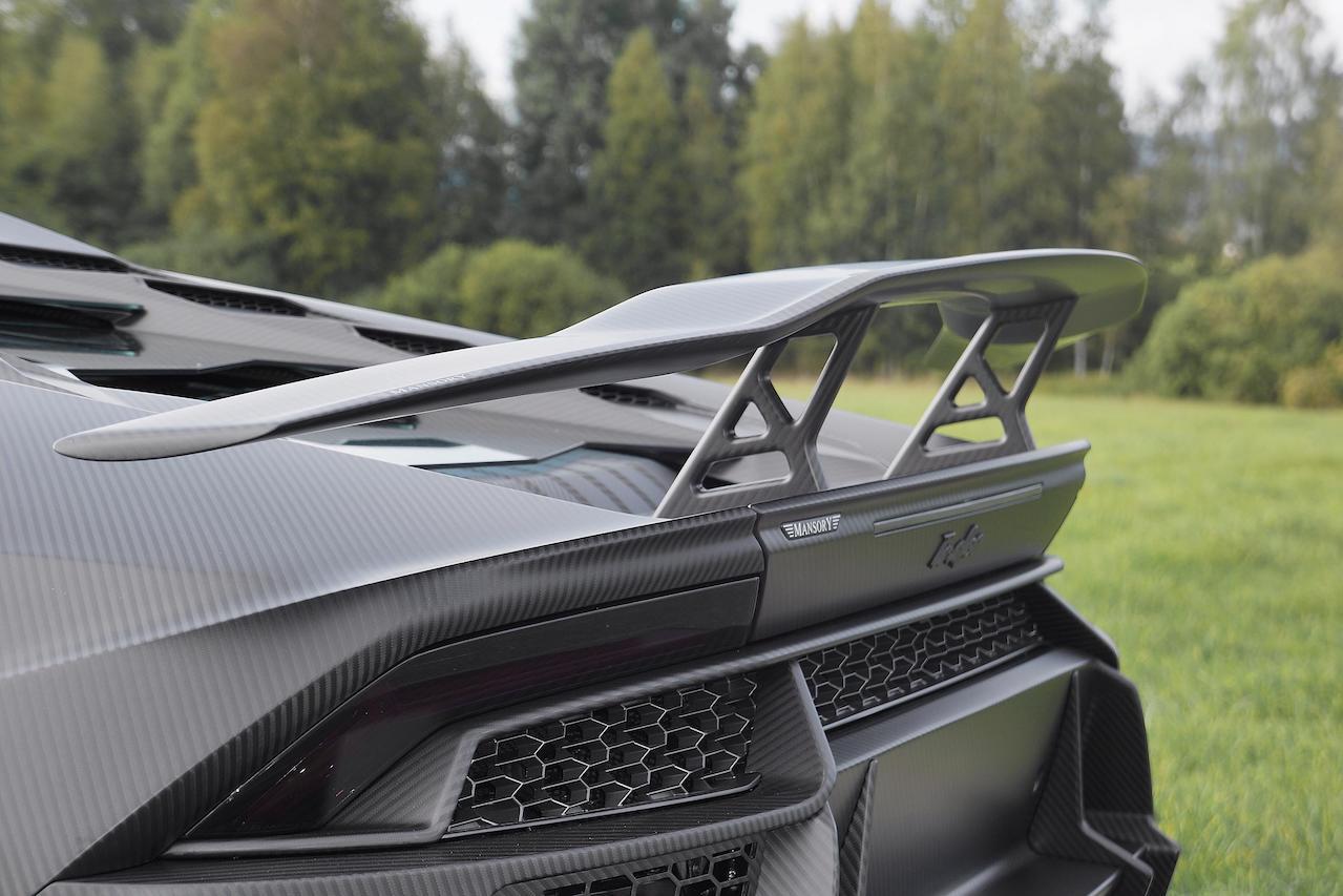 mansory lamborghini huracan torofeo wide body kit carbon fiber rear trunk wing spoiler