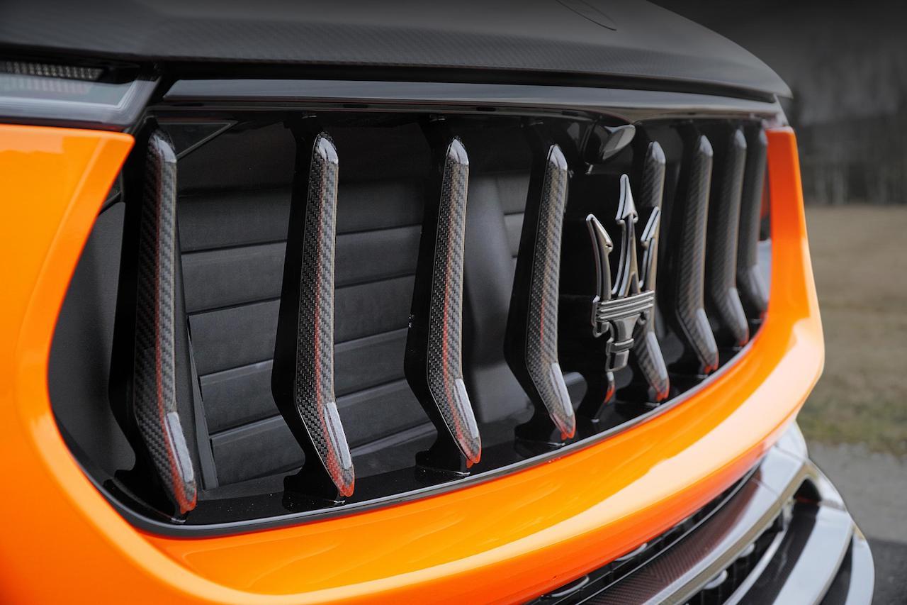 mansory maserati levante carbon fiber front grill
