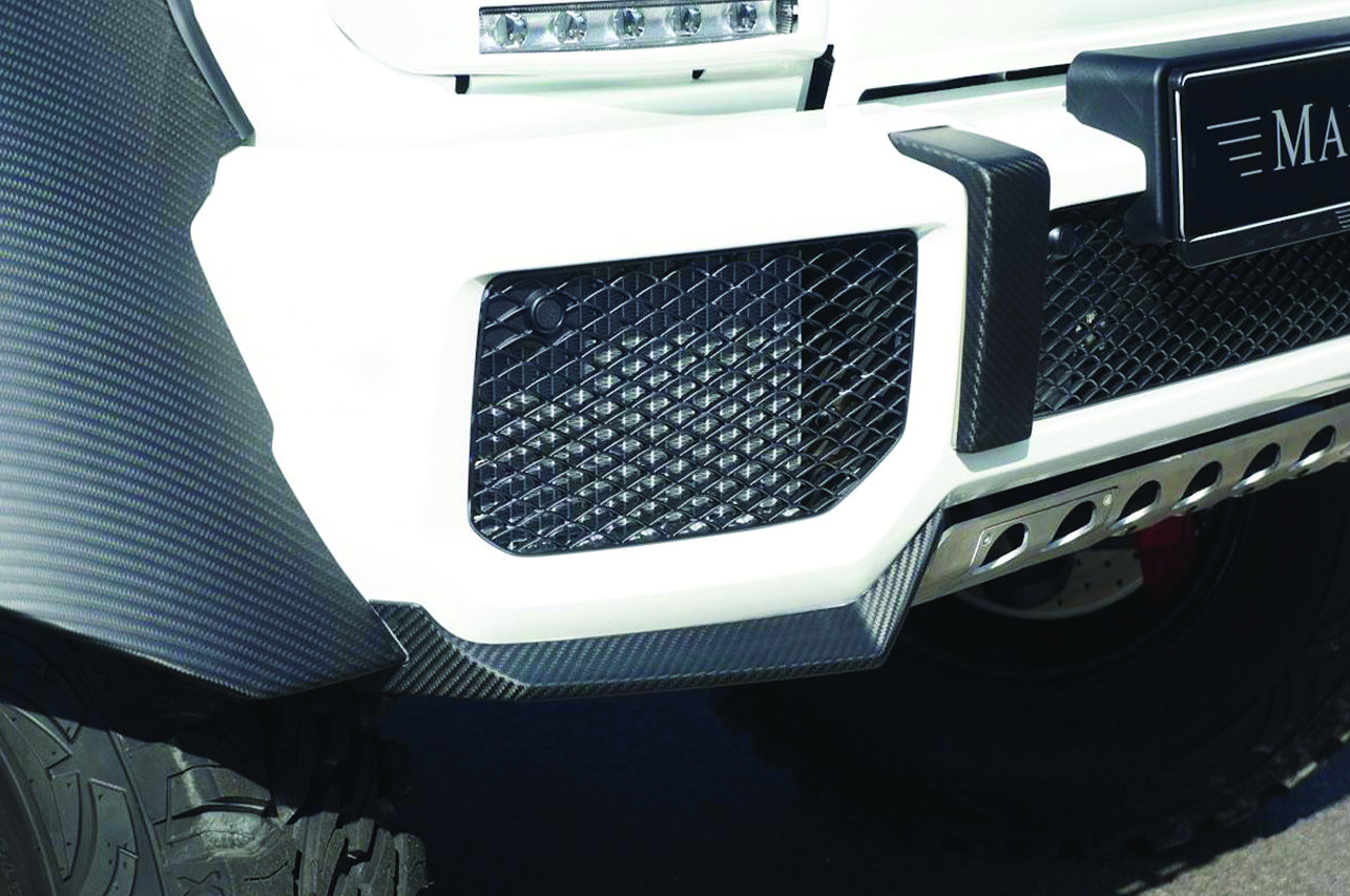 mansory mercedes benz 6x6 w463 carbon fiber body kit front bumper splitter