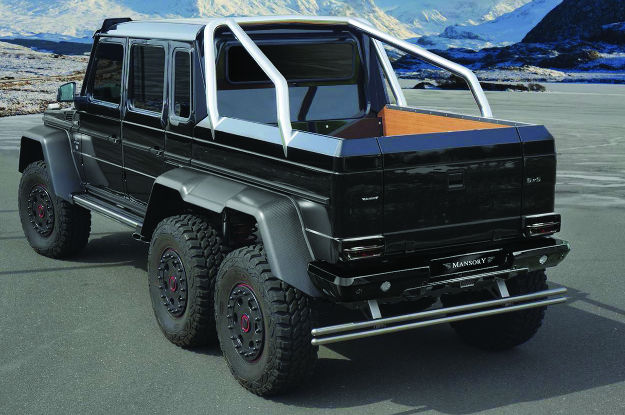 mansory mercedes benz 6x6 w463 carbon fiber body kit rear end black