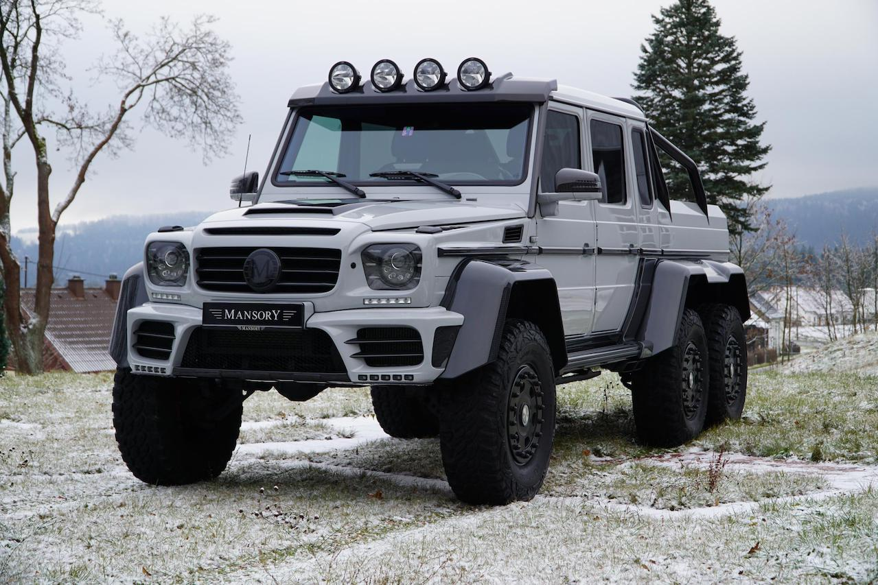 mansory mercedes benz 6x6 w463 gronos carbon fiber body kit front bumper facelift grill hood roof light