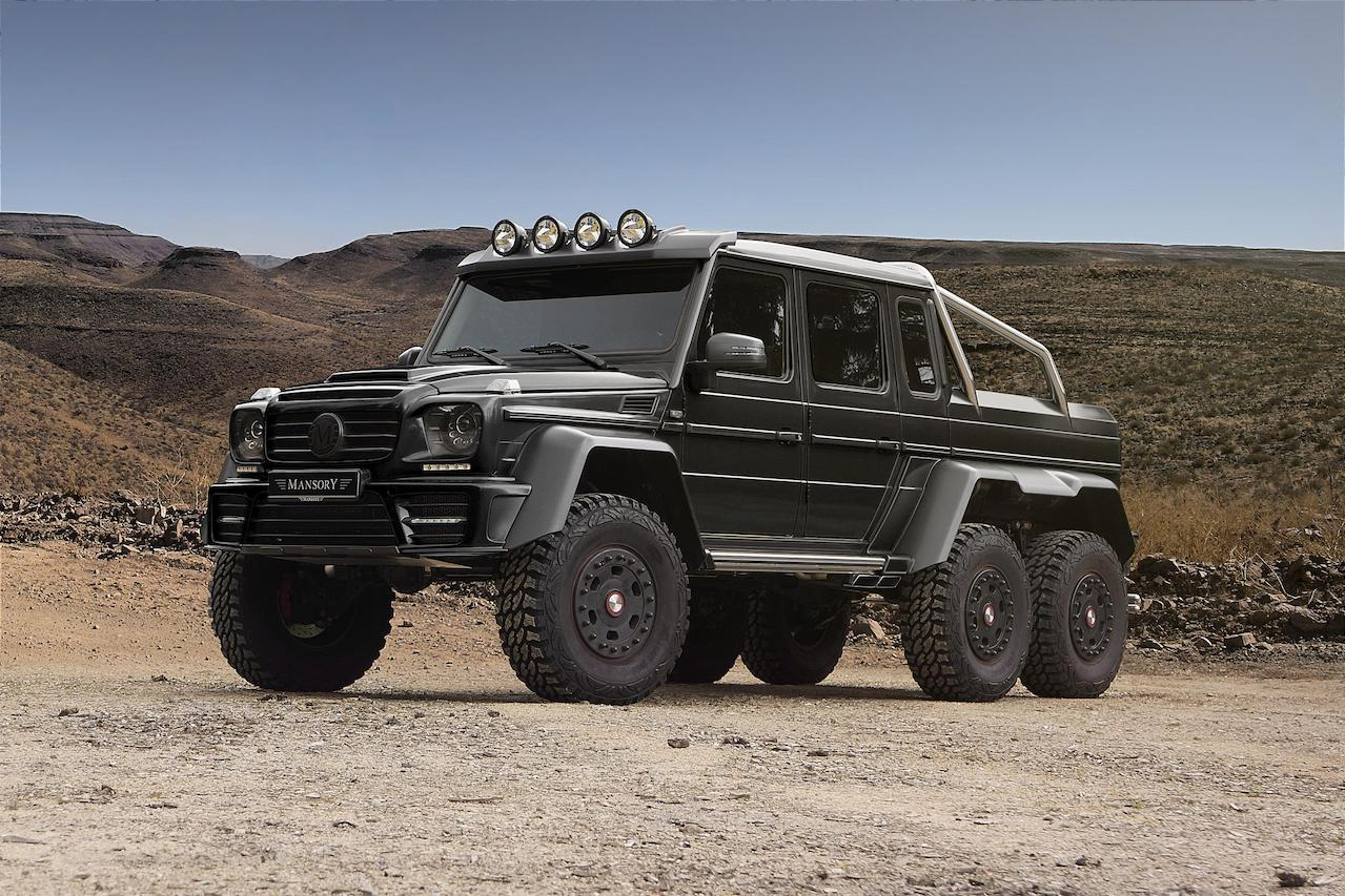 mansory mercedes benz 6x6 w463 gronos carbon fiber body kit front bumper grill hood roof light