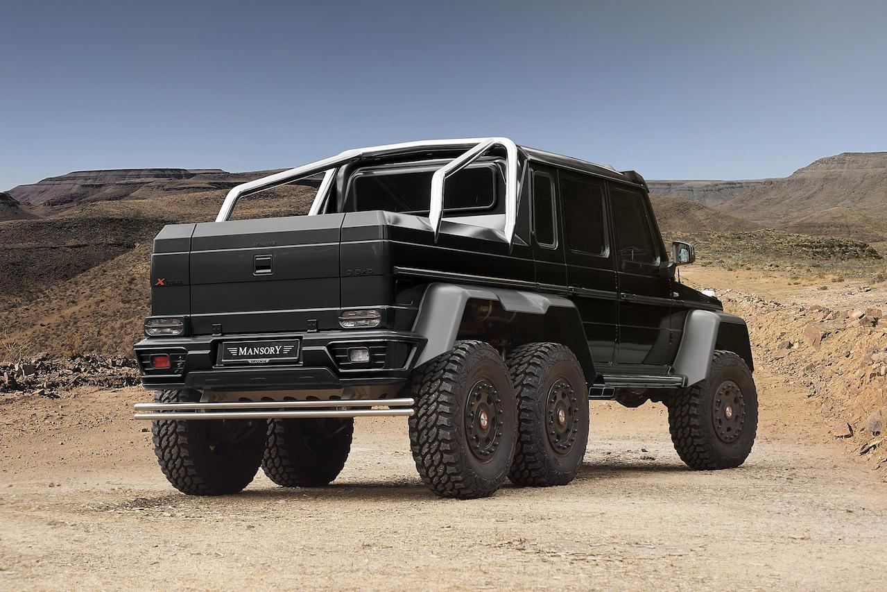 mansory mercedes benz 6x6 w463 gronos carbon fiber body kit rear bumper smokey tail light