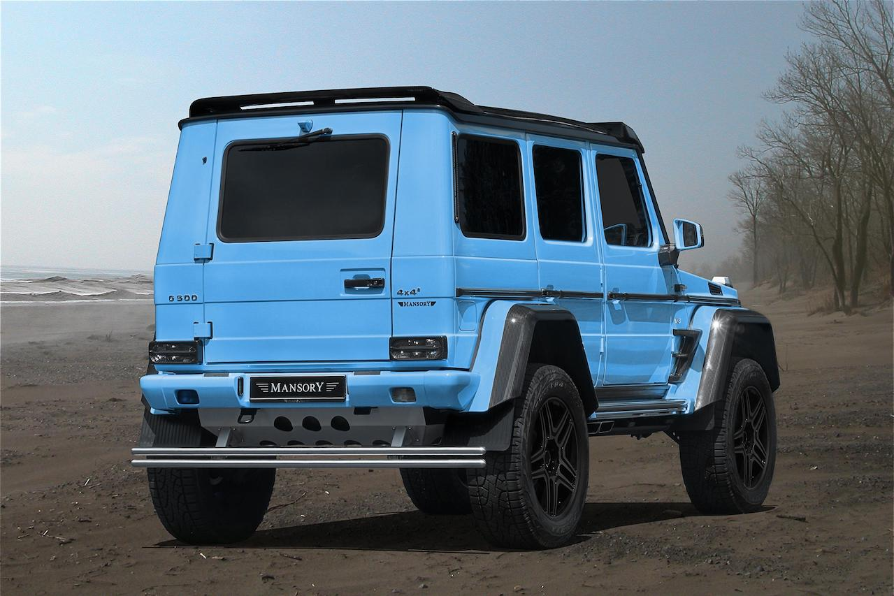 mansory mercedes benz amg 4x4 g550 g63 g65 g500 carbon fiber roof wing spoiler smoked tail light m8 fully forged wheel rim