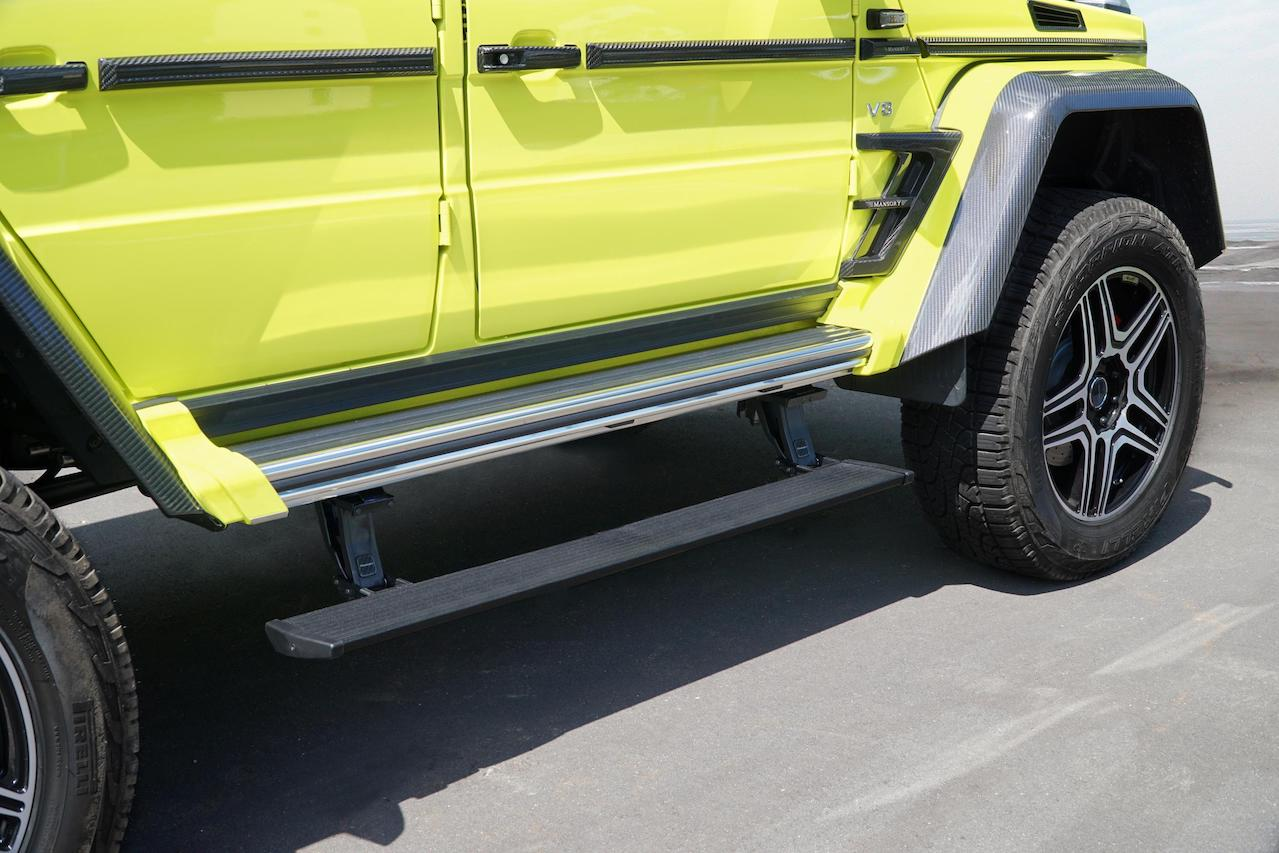 mansory mercedes benz amg 4x4 g550 g63 g65 g500 electrical side step long exhaust system