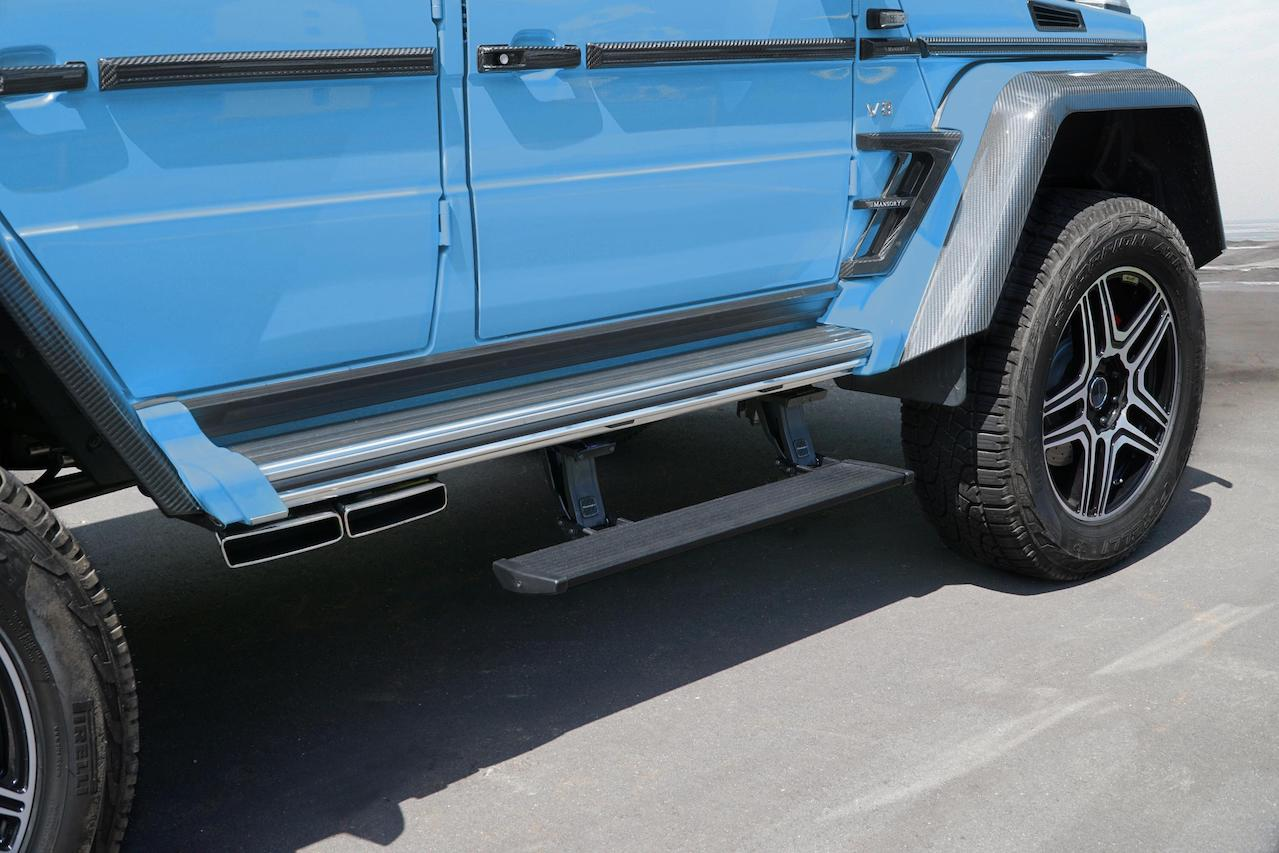 mansory mercedes benz amg 4x4 g550 g63 g65 g500 electrical side step short down exhaust system