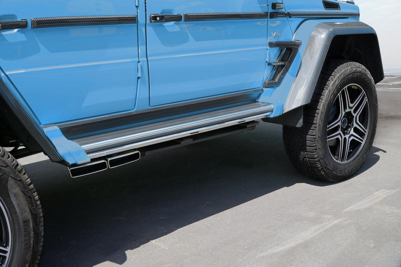 mansory mercedes benz amg 4x4 g550 g63 g65 g500 electrical side step short up exhaust system