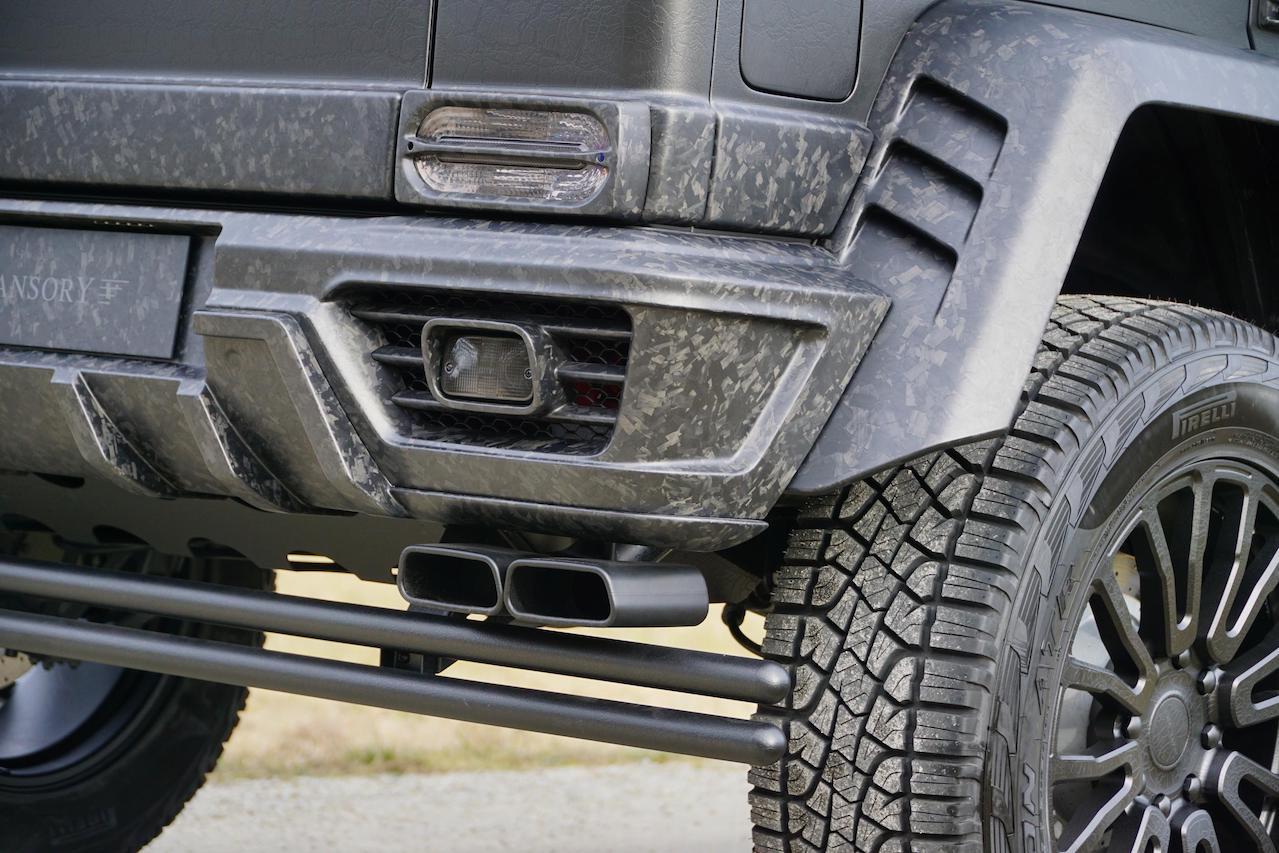 mansory mercedes benz amg 4x4 g550 g63 g65 g500 gronos black desert edition exhaust