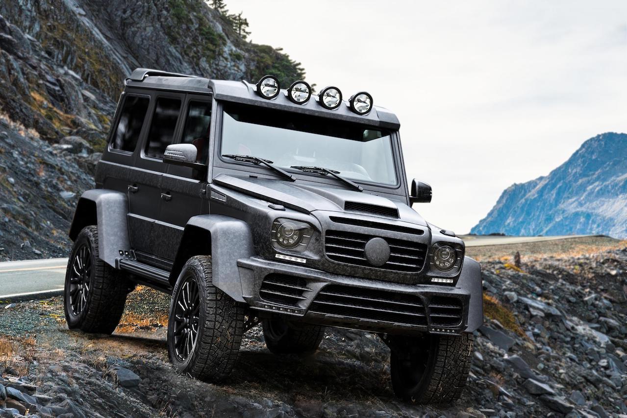mansory mercedes benz amg 4x4 g550 g63 g65 g500 gronos black desert edition front